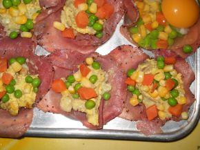 Снимка 3 от рецепта за Предястие със свинско филе и яйца