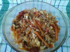 Снимка 3 от рецепта за Прясно зеле с кюфтета на фурна