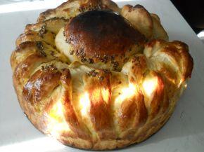 Снимка 2 от рецепта за Пухкава питка с кисело мляо