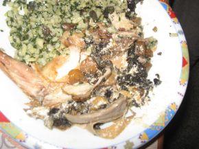 Снимка 5 от рецепта за Пълнен заек в плик с майонезено-чеснова заливка