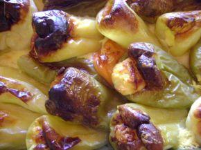 Снимка 10 от рецепта за Пълнени чушки с яйца и сирене