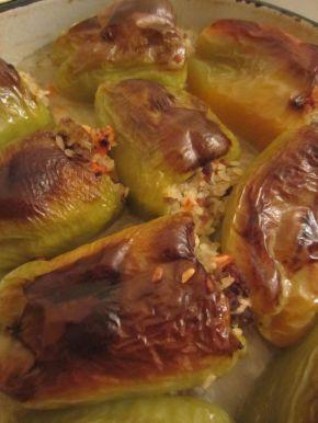 Снимка 10 от рецепта за Пълнени чушки с кайма и ориз