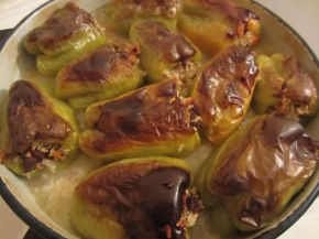 Снимка 9 от рецепта за Пълнени чушки с кайма и ориз