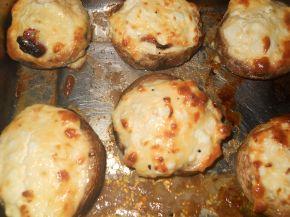 Снимка 5 от рецепта за Пълнени гъби със сирене и яйца