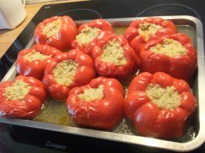 Снимка 8 от рецепта за Пълнени пиперки на фурна