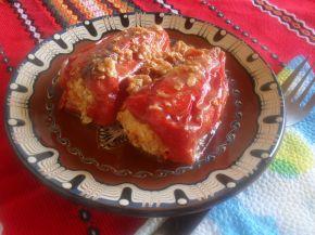 Снимка 3 от рецепта за Пълнени пиперки с яйца и сирене