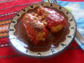 Снимка 4 от рецепта за Пълнени пиперки с яйца и сирене