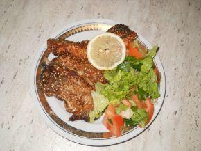 Снимка 5 от рецепта за Пържен толстолоб със соев сос и сусам