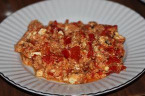 Снимка 2 от рецепта за Пържени чушки с извара и яйца