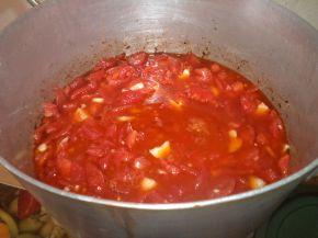 Снимка 4 от рецепта за Пържени камби с доматен сос