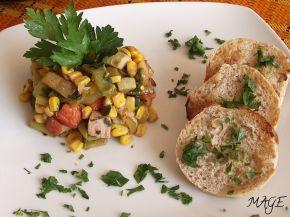 Снимка 2 от рецепта за Пъстър зеленчуков аламинут