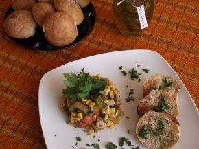 Снимка 4 от рецепта за Пъстър зеленчуков аламинут