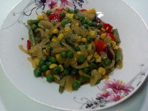 Снимка 5 от рецепта за Пъстър зеленчуков аламинут