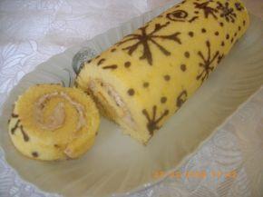 Снимка 3 от рецепта за Рисувано руло Снежинки
