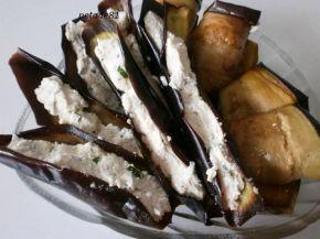 Снимка 5 от рецепта за Рулца от патладжан с плънка от извара и майонеза