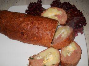 Снимка 3 от рецепта за Руло от кайма с плънка от варени картофи и яйца