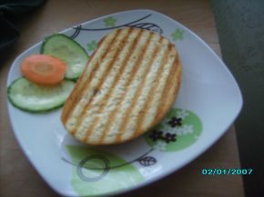 Снимка 2 от рецепта за Ръжен сандвич с мортадела