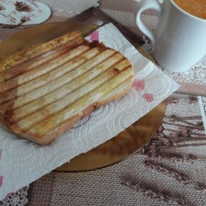Снимка 6 от рецепта за Ръжен сандвич с мортадела