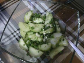 Снимка 2 от рецепта за Салата с краставици и копър