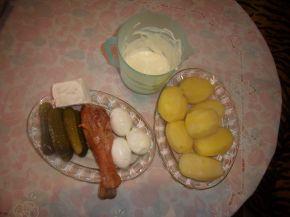 Снимка 2 от рецепта за Салата - солена торта