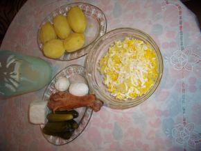 Снимка 3 от рецепта за Салата - солена торта