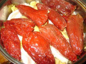 Снимка 4 от рецепта за Сарми и чушки с кълцано месо