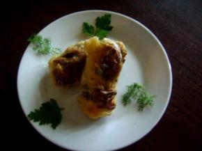 Снимка 2 от рецепта за Сармички с кълцано месо и гъби