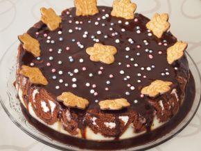 Снимка 9 от рецепта за Шарена  лесна торта с готови  рула