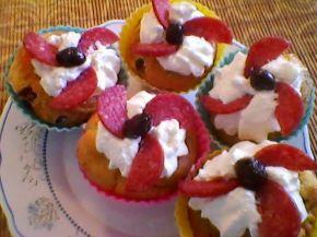 Снимка 3 от рецепта за Шарени солени кейкчета