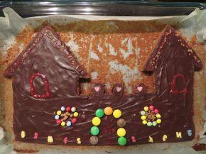 Снимка 2 от рецепта за Шоколадов сладкиш - замък