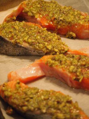 Снимка 2 от рецепта за Сьомга с хрупкава коричка