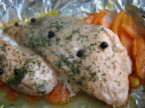 Снимка 3 от рецепта за Сьомга с моркови