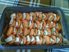 Снимка 2 от рецепта за Сладки картофи с козе сирене
