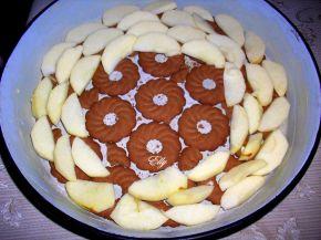 Снимка 2 от рецепта за Сладкиш с ябълки и какао