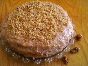 Снимка 2 от рецепта за Сладкиш с орехови блатове, орехов крем и орехов крокан