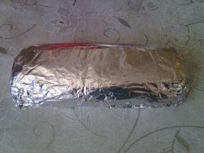Снимка 3 от рецепта за Сладък салам с орехи и шоколад