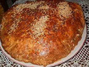 Снимка 2 от рецепта за Содена питка с прясно мляко и сусам