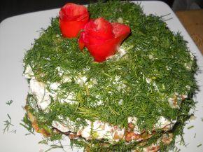 Снимка 2 от рецепта за Солена палачинкова торта с тиквички и моркови