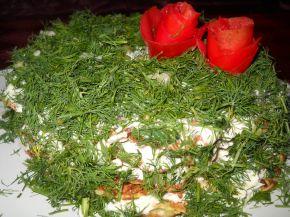 Снимка 8 от рецепта за Солена палачинкова торта с тиквички и моркови