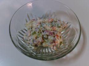 Снимка 2 от рецепта за Солени тарталетки с руска салата