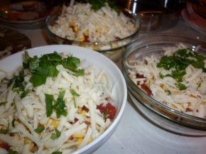 Снимка 2 от рецепта за Спагети с варени яйца, сирене и кашкавал