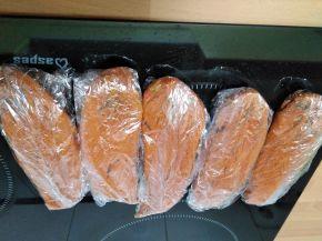 Снимка 7 от рецепта за Сухо пуешко филе за мезе