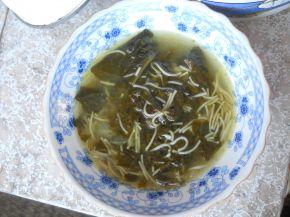 Снимка 2 от рецепта за Супа от лапад с фиде