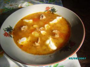 Снимка 2 от рецепта за Супа топчета с арпа фиде