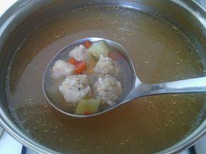 Снимка 7 от рецепта за Супа топчета с картофи