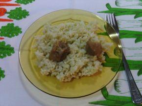 Снимка 3 от рецепта за Свинско месо с ориз и моркови на фурна