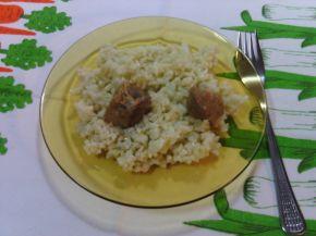 Снимка 4 от рецепта за Свинско месо с ориз и моркови на фурна