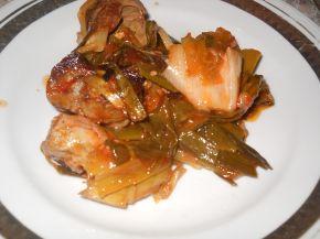 Снимка 3 от рецепта за Свинско месо с праз и лук