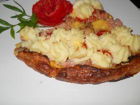 Снимка 5 от рецепта за Тарта от бутер тесто с кайма и картофено пюре