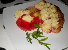 Снимка 7 от рецепта за Тарта от бутер тесто с кайма и картофено пюре